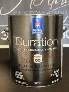 Sherwin Williams Duration Exterior Paint Can