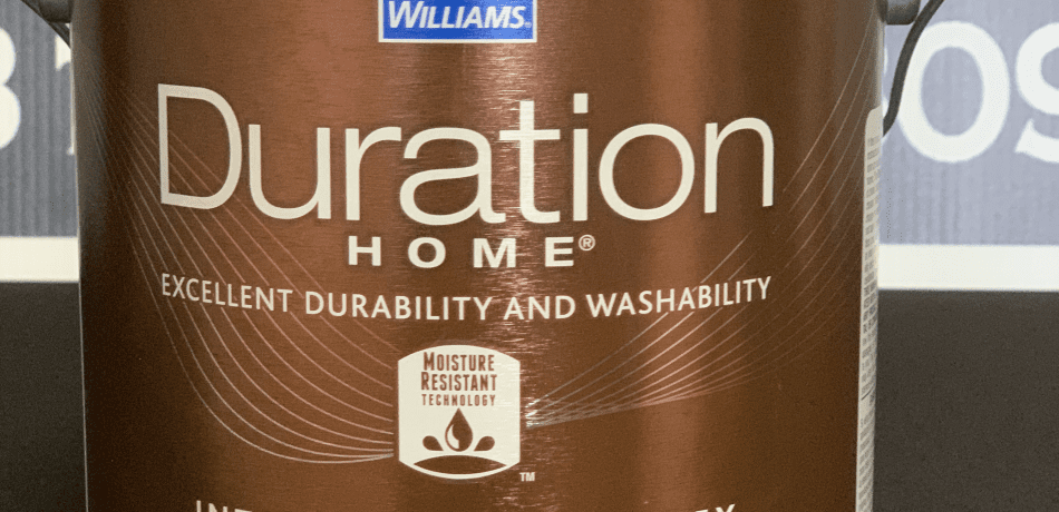 A Picture of a Sherwin Williams Duration Interior Matte Paint Can