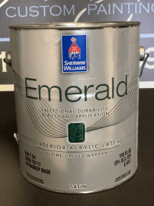Sherwin Williams Emerald Exterior Paint Can