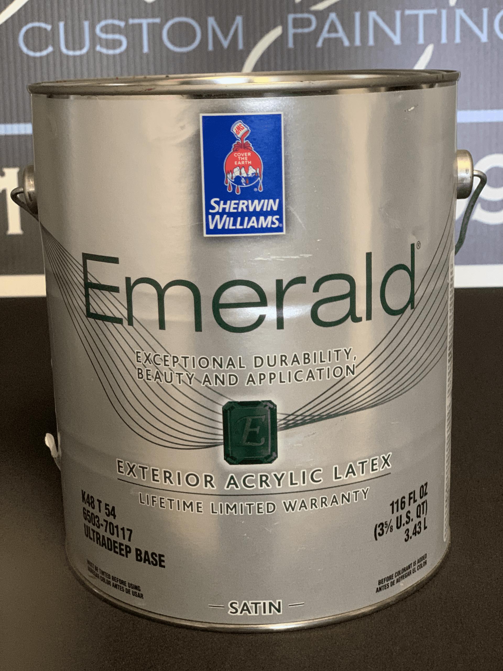 Sherwin-Williams Emerald Satin Exterior House Paint Can