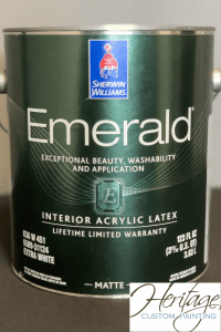 A Can of Sherwin Williams Emerald Paint Matte Finish