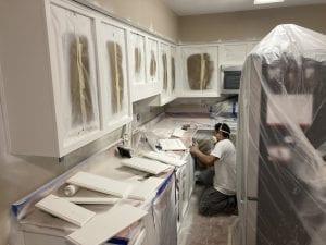 Sanding, Cabinets Between Coats