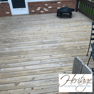 A Picture of an older Deck in Kokomo Indiana