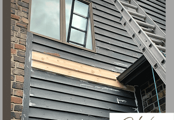 Carpentry repair to wood siding Zionsville Indiana