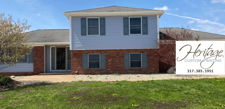 Vinyl Siding was Painted a Subtle Blue in Tipton Indiana