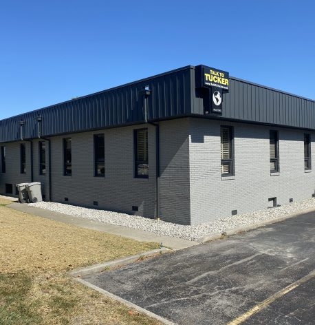 A picture of the back corner showing the new FC Tucker exterior.