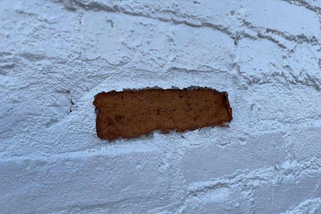 Painted brick can fail if the brick begins shaling.